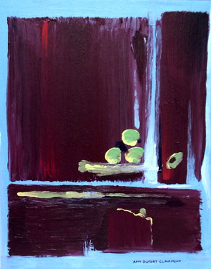 """First in Marsala Series """"Marsala Triad 1"""" Amy Dufort Clairmont"""