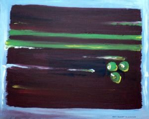 "Third in Marsala Series ""Marsala Triad 3″ 16″x20″ acrylic on canvas original – $500 Amy Dufort Clairmont"